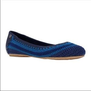 The Sak | Frannie Blue Striped Knit Ballet Flats